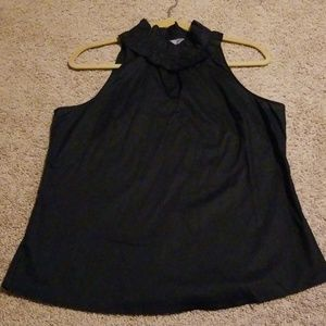 Merona black sleeveless blouse